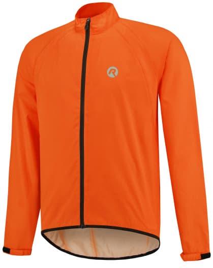 Lehká cyklistická pláštěnka s podlepenými švy Rogelli TELLICO, reflexní oranžová