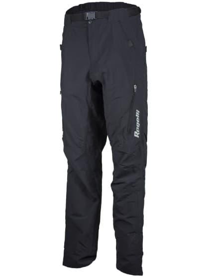 Volné prodyšné MTB kalhoty Rogelli CASERTA s oděruodolným materiálem na nohavicích, černé