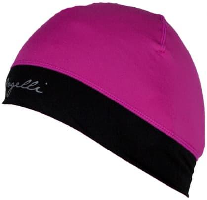Dámská elastická čepice s otvorem pro vlasy Rogelli MAXIE, reflexní růžová-černá