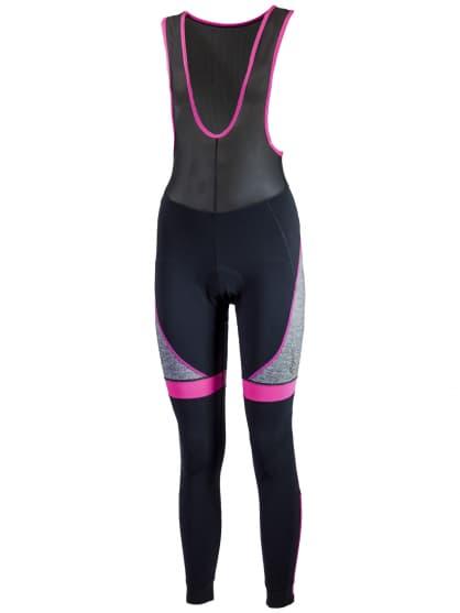 Dámské cyklistické kalhoty Rogelli CAROU s gelovou cyklovýstelkou, černo-růžové