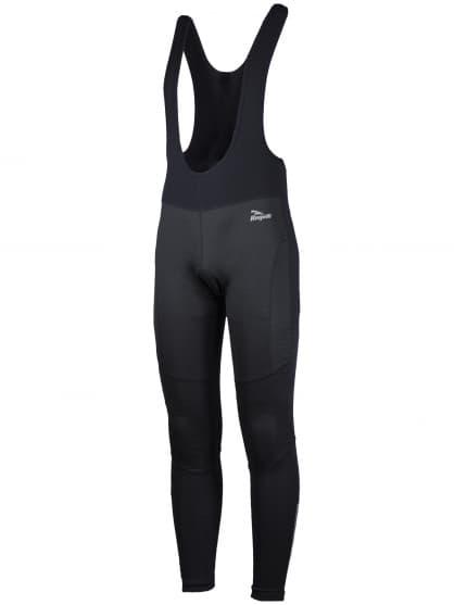 Softshellové cyklo kalhoty Rogelli FONDO s gelovou cyklovýstelkou, černé