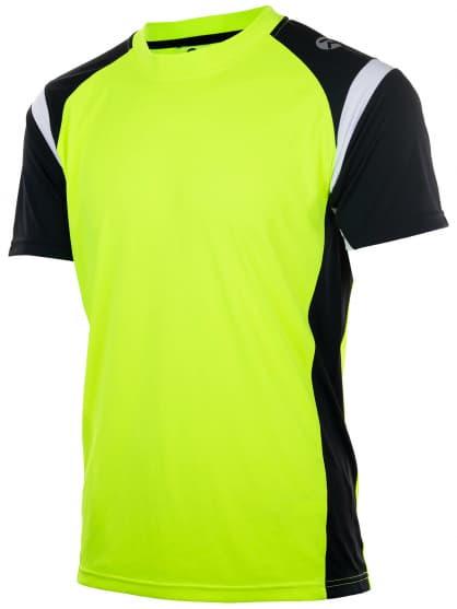 Funkční tričko Rogelli DUTTON, reflexní žluté-černo-bílé