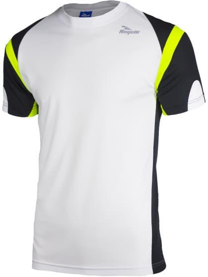 Funkční tričko Rogelli DUTTON, bílo-černo-reflexní žluté