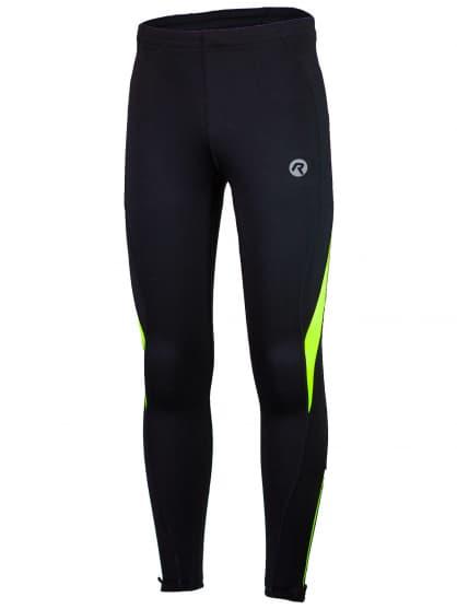 Běžecké kalhoty Rogelli DUNBAR, černo-reflexní žluté