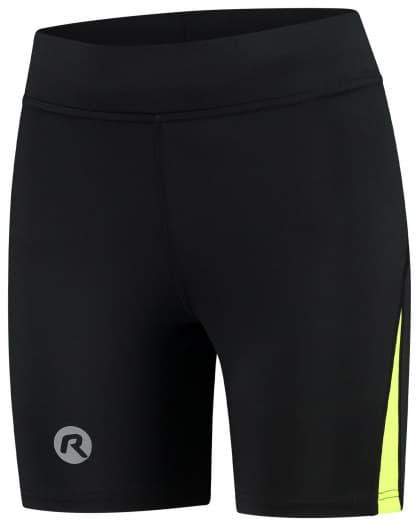 Dámské běžecké kraťasy Rogelli EDIA, černo-reflexní žluté