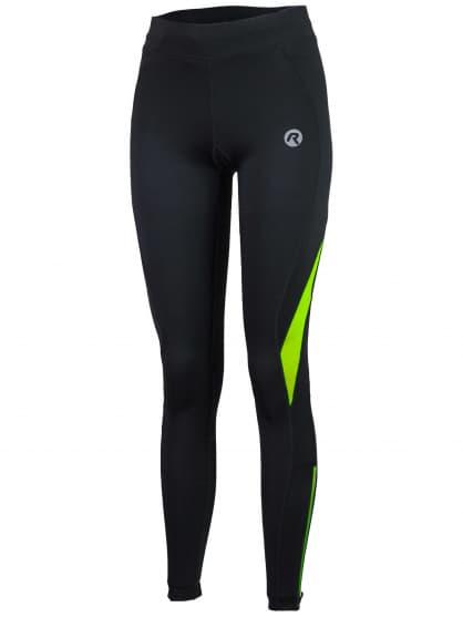 Dámské běžecké kalhoty Rogelli EMNA, černo-reflexní žluté