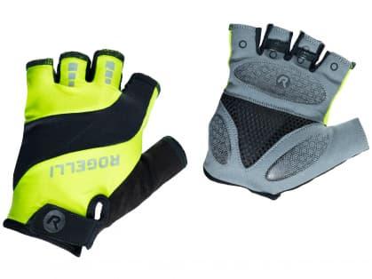 Cyklistické rukavice Rogelli PHOENIX, reflexní žluté