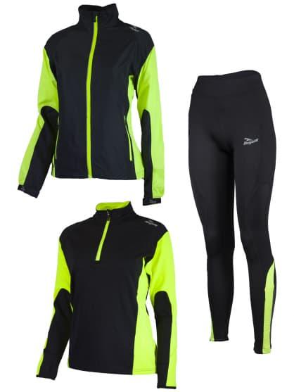 Dámské funkční oblečení Rogelli LADY-E, černo-reflexní žluté