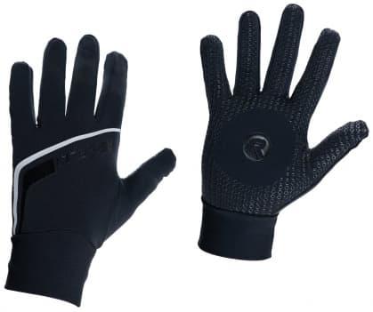 Slabé softshellové zimní rukavice s protiskluzovou dlaní Rogelli BURLINGTON, černé