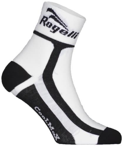 Mírně hřejivé funkční ponožky Rogelli COOLMAX, bílo-černé