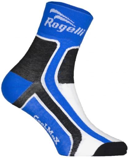 Mírně hřejivé funkční ponožky Rogelli COOLMAX, modré