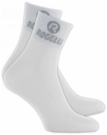 Ponožky s extra vysokou prodyšností Rogelli COOLMAX, bílé