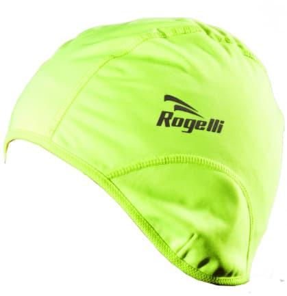 Softshellová čepice pod helmu Rogelli LAZIO, reflexní žlutá