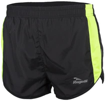 Běžecké šortky Rogelli FIRENZE, černo-reflexní žluté