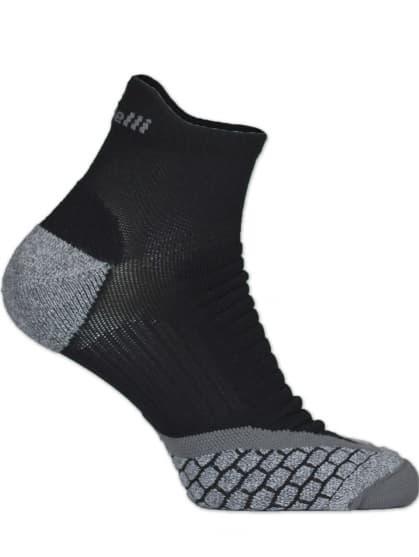Speciální středně hřejivé ponožky se zesíleným nártem a chodidlem Rogelli COOLMAX RUN LOW, černo-šedé