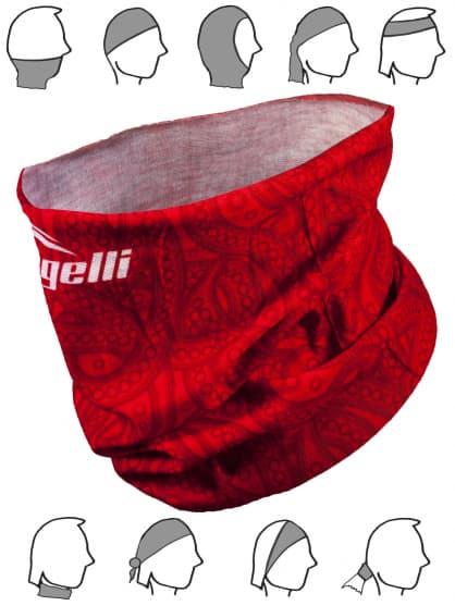 Multifunkční bezešvý šátek Rogelli SCARF, červený