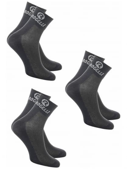 Funkční ponožky Rogelli COOLMAX - 3 páry různé velikosti, černé