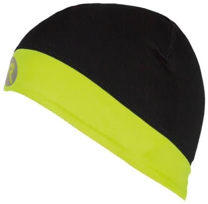 Elastická čepice Rogelli LESTER, černo-refllexní žlutá