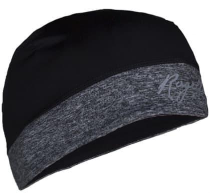 Dámská elastická čepice s otvorem pro vlasy Rogelli MAXIE, černo-šedá