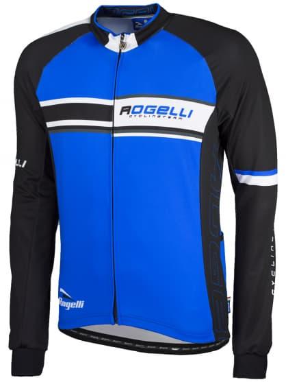 Cyklistický dres Rogelli ANDRANO s dlouhým rukávem, modrý