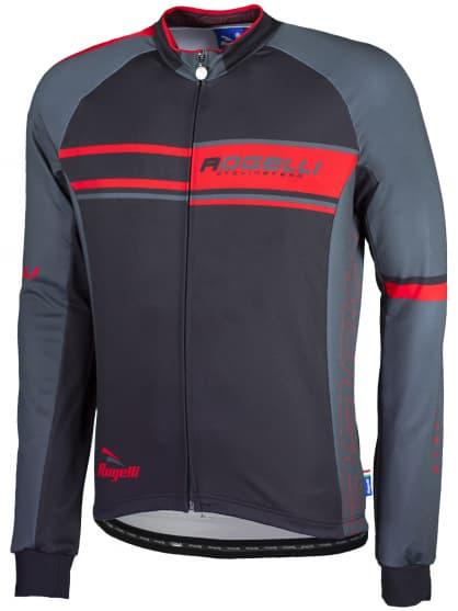Cyklistický dres Rogelli ANDRANO s dlouhým rukávem, červený