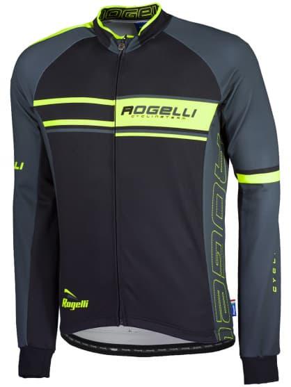 Cyklistický dres Rogelli ANDRANO s dlouhým rukávem, reflexní žlutý