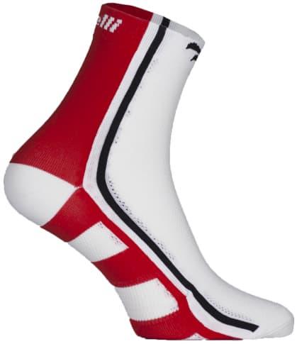 Antibakteriální funkční ponožky s mírnou kompresí Rogelli Q-SKIN, červené