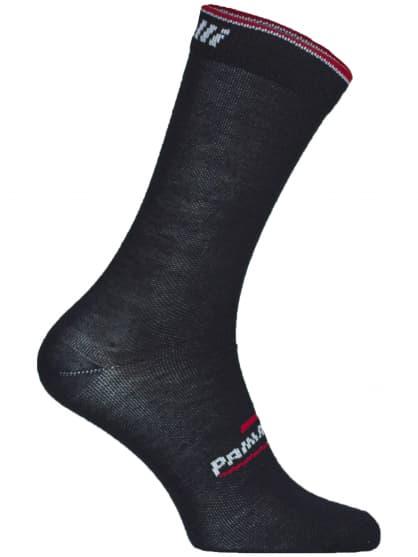 Středně silné funkční ponožky Rogelli PRIMALOFT, černo-červené