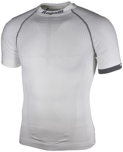 KOMPRESNÍ funkční tričko Rogelli s krátkým rukávem, bílo-šedé