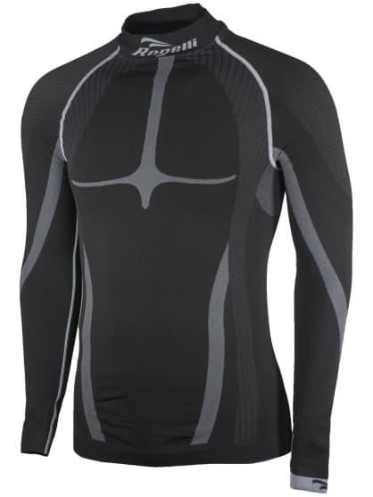 KOMPRESNÍ funkční triko Rogelli s dlouhým rukávem, černo-šedé