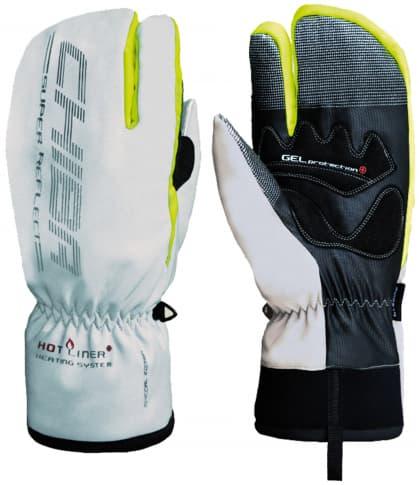 Tříprsté silně hřejivé zimní rukavice Chiba ALASKA PLUS, stříbrné
