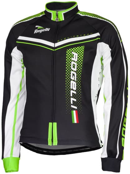 Cyklistický dres Rogelli GARA MOSTRO s dlouhým rukávem, zelený