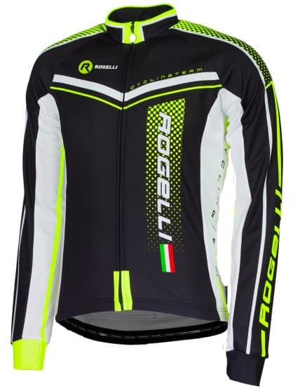 Cyklistický dres Rogelli GARA MOSTRO s dlouhým rukávem, reflexní žlutý