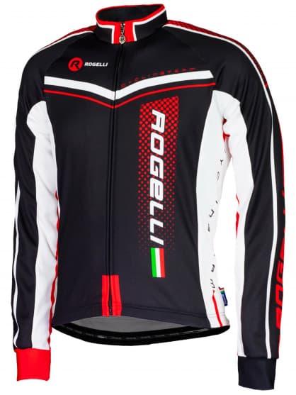 Cyklistický dres Rogelli GARA MOSTRO s dlouhým rukávem, červený