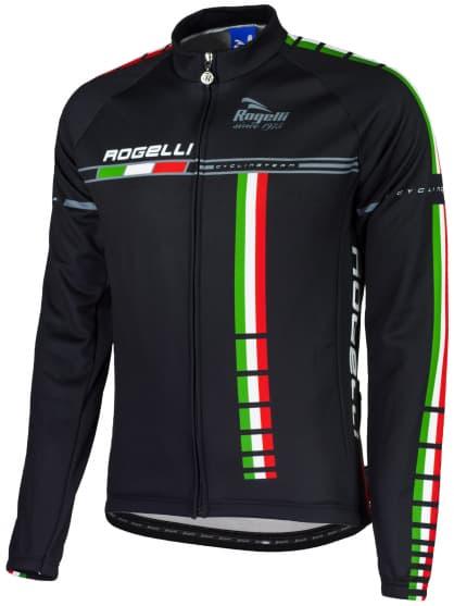 Cyklistický dres Rogelli TEAM s dlouhým rukávem, černo-modrý