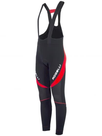 Zateplené cyklokalhoty se softshellovými koleny Rogelli TRAVO 2.0 s gelovou cyklovýstelkou, černo-červené