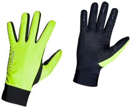 Slabé zimní membránové rukavice Rogelli LAVAL, reflexní žluté