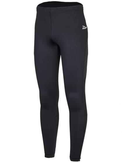 Běžecké zateplené kalhoty s výrazným reflexním potiskem Rogelli BAXTER, černé
