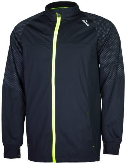 Ultralehká softshellová bunda s výrazným reflexním potiskem Rogelli STANTON, černo-reflexní žlutá