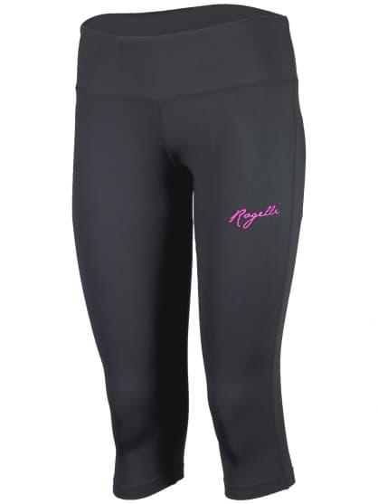 Dámské fitness 3/4 kraťasy Rogelli FABIE, černé-růžové
