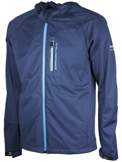 Softshellová bunda volného střihu pro celoroční použití Rogelli MAIPO, modrá