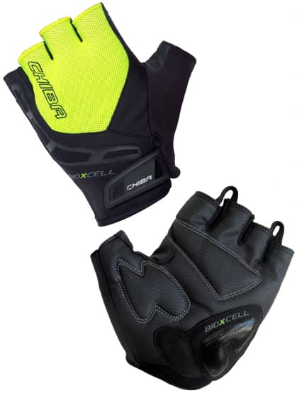 Cyklo rukavice Chiba BIOXCELL, reflexní žluté