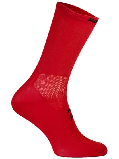 Antibakteriální celobarevné ponožky s mírnou kompresí Rogelli Q-SKIN, červené
