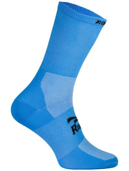 Antibakteriální celobarevné ponožky s mírnou kompresí Rogelli Q-SKIN, světle modré