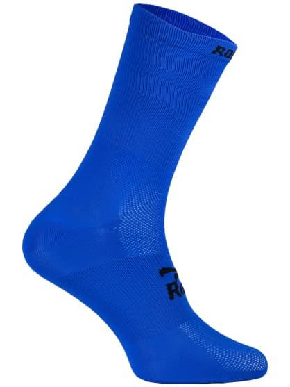 Antibakteriální celobarevné ponožky s mírnou kompresí Rogelli Q-SKIN, modré