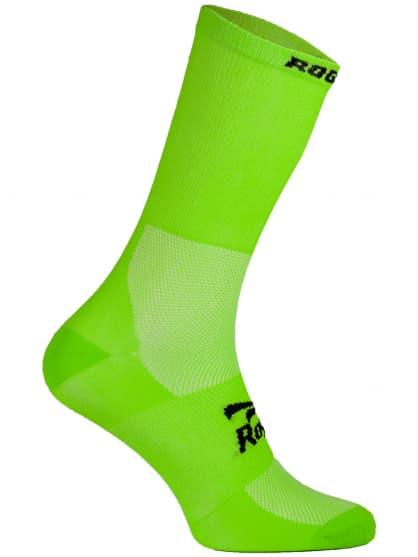 Antibakteriální celobarevné ponožky s mírnou kompresí Rogelli Q-SKIN, zelené