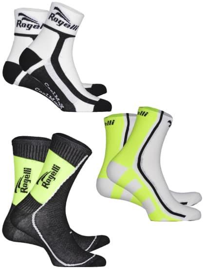 Funkční ponožky Rogelli REFLEXNÍ MIX - 3 páry různé velikosti