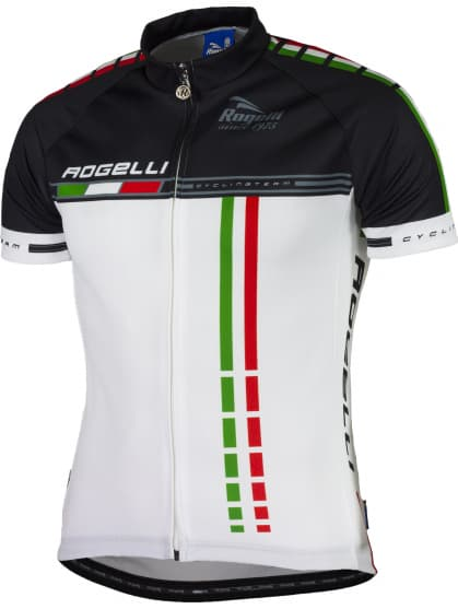 Cyklodres Rogelli TEAM 2.0 s krátkým rukávem, bílý