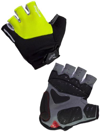 Cyklistické rukavice Rogelli ROCKFORD, reflexní žluté