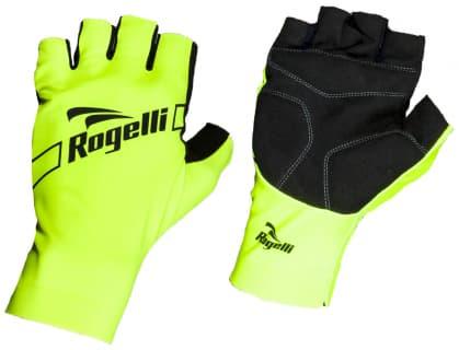 Cyklistické rukavice Rogelli LOGAN, reflexní žluté